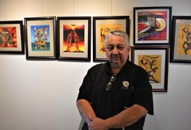 Well-known Mi'kmaw artist Gerald Gloade, from Millbrook, has a 30-piece show on display now at the Colchester East Hants Regional Library.