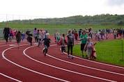 A.G. Baillie Memorial School held their 2021 Terry Fox Walk at the Pioneer Coal Athletics Field.