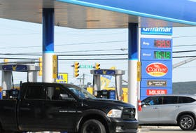 Motorists get gas Thursday, Oct. 7, at the Ultramar station on White Rose Drive in St. John's. There seems to be no break for drivers at the pumps, as gasoline prices once again went up more than four cents per litre overnight Wednesday into Thursday morning. Joe Gibbons • The Telegram
