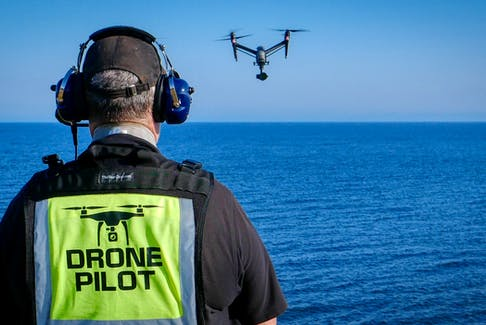 Legally, drones can fly over private property as long as they are following all Transport Canada rules. Lee Dodson, pictured, of Skygate Drone Services and the Atlantic Drone Flight School, said many drone pilots don't intend to hover above or around someone and will more often than not fly elsewhere if asked.