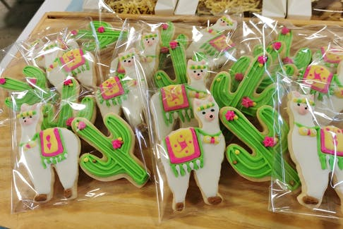 """""""They make it look so easy and fast in the videos, but that is definitely not the case, especially when you're new to it,"""" Michelle Bredell says about decorating cookies."""