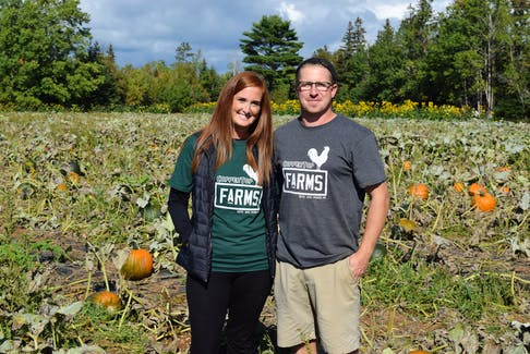Robyn and Chad Thompson are the owners of Coppertop Farms.