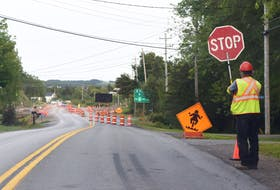 Construction at the Trenton-Abercrombie roundabout is expected to wrap up in October.
