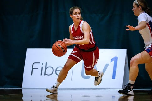 Ines Salat Margarit is the only senior on the Memorial Sea-Hawks women's basketball team and even then will have a year of varsity eligibility remaining after this season. — File photo via Memorial Athletics