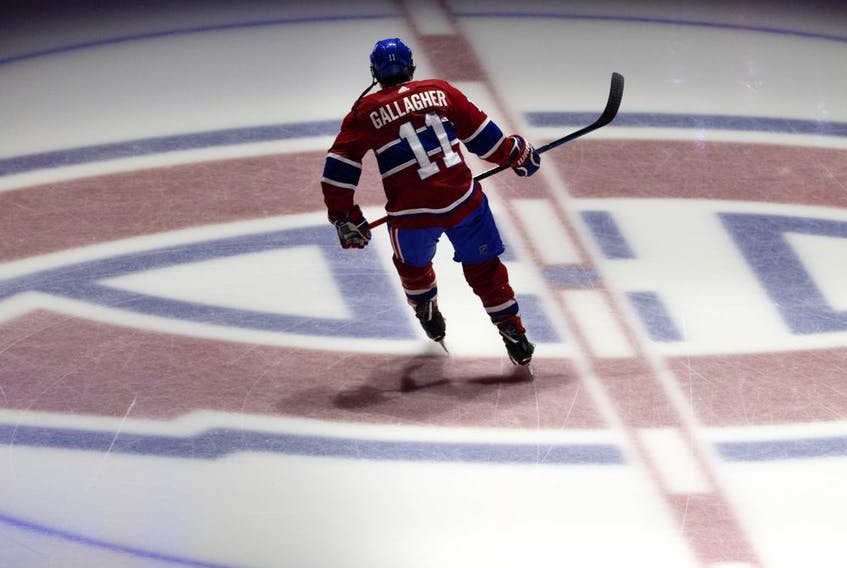"""""""We love playing hockey, we love this game. But it takes a backseat to a lot of important things in life,"""" the Canadiens' Brendan Gallagher said after goalie Carey Price entered the NHL/NHLPA player assistance program."""
