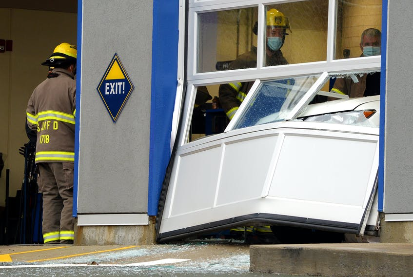 Two people were sent to hospital following a workplace accident in St. John's Friday afternoon.