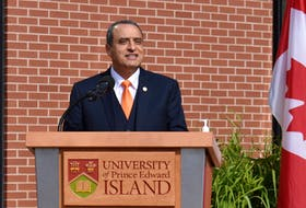 Alaa Abd-El-Aziz, president and vice-chancellor of UPEI, announces the new faculty of medicine at UPEI, which will start accepting students in September 2023.