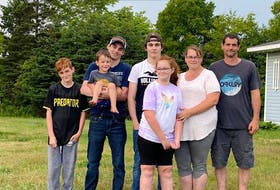 Many people are stepping up to help the Morehouse family of Digby County after a fire claimed their home and belongings. John and Nancy Morehouse lived in the home with their four children Waylon, Johnny, Brady and Shaylee. Also pictured is John's oldest son Riley who did not live in the home. CONTRIBUTED