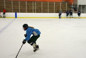 UPEI Panthers forward Lexie Murphy carries the puck during a practice earlier this week in preparation for this weekend's Atlantic University Sport women's hockey action.