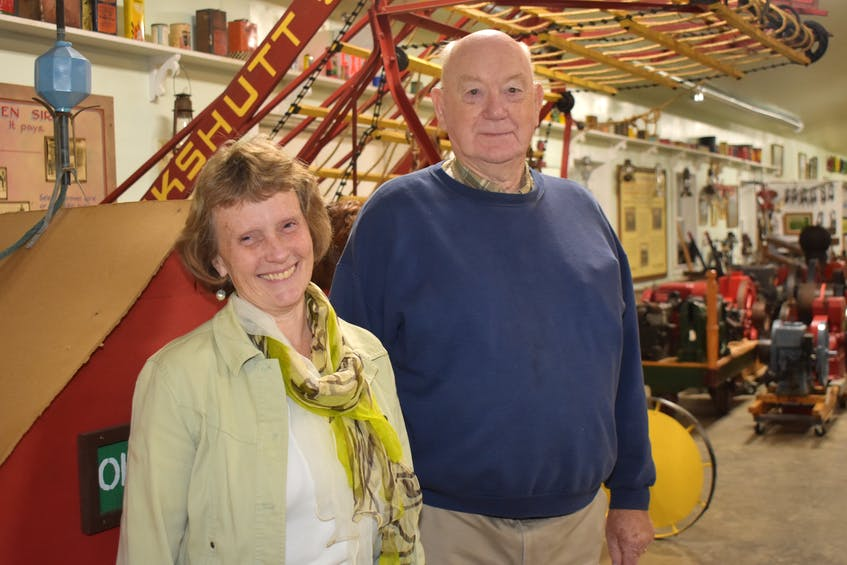 Farm Equipment Museum Secretary Dawn MacKay and President Page Baird are both long-time volunteers at the Bible Hill facility.  -Harry Sullivan