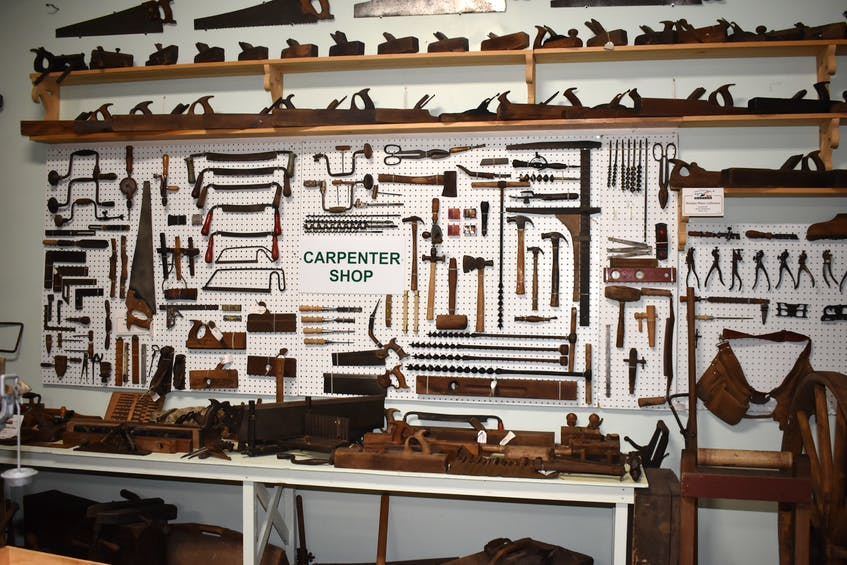 The museum offers a comprehensive collection of antique carpentry tools.  -Harry Sullivan