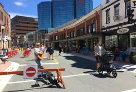 The pedestrian mall will return in 2021 with the same look for Water Street and add two new sections along Duckworth Street. — File Photo