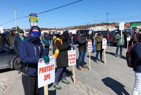 Fishers and plant workers from Placentia Bay came to Clarenville March 31 for a demonstration organized by the FFAW. The union and their members are worried about the possible closure of the commercial cod fishery in fishing zone 3Ps.