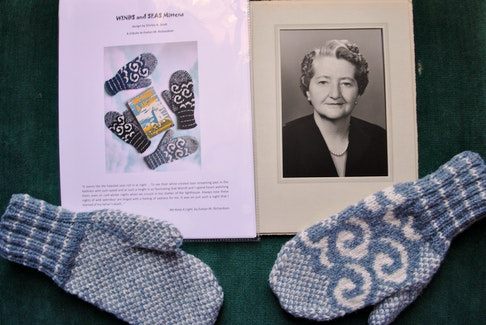 The Waves and Seas mitten pattern designed by Shirley Scot to honour Evelyn Richardson will be exclusively available through the Cape Sable Historical Society/ Barrington  Museum Complex. KATHY JOHNSON