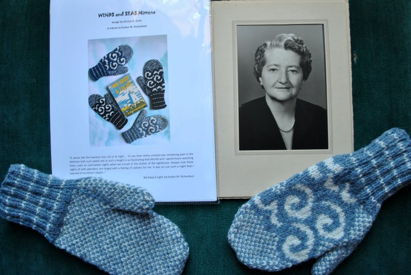 The Waves and Seas mitten pattern designed by Shirley Scot to honour Evelyn Richardson will be exclusively available through the Cape Sable Historical Society/ Barrington  Museum Complex. KATHY JOHNSON  - Kathy Johnson