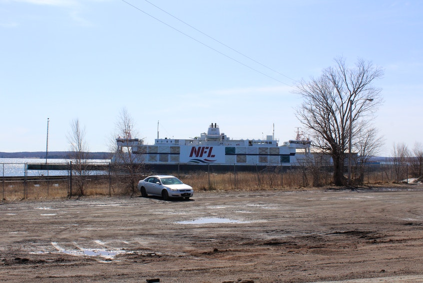 The Northumberland ferry docked at the Pictou Shipyard for the winter.