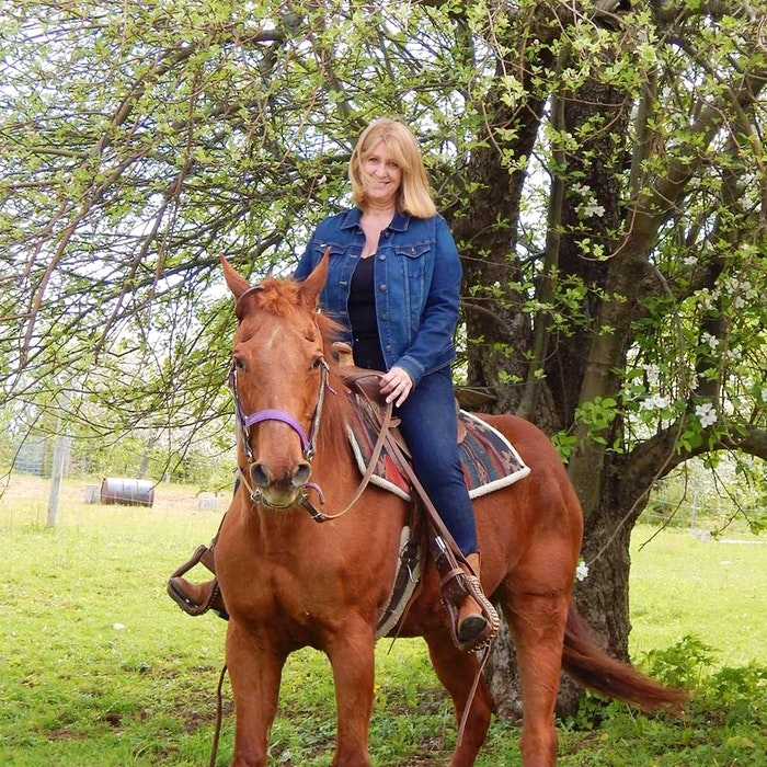 Nancy Sills started riding Bonsai when the 37-year-old quarter horse was only three. - Contributed