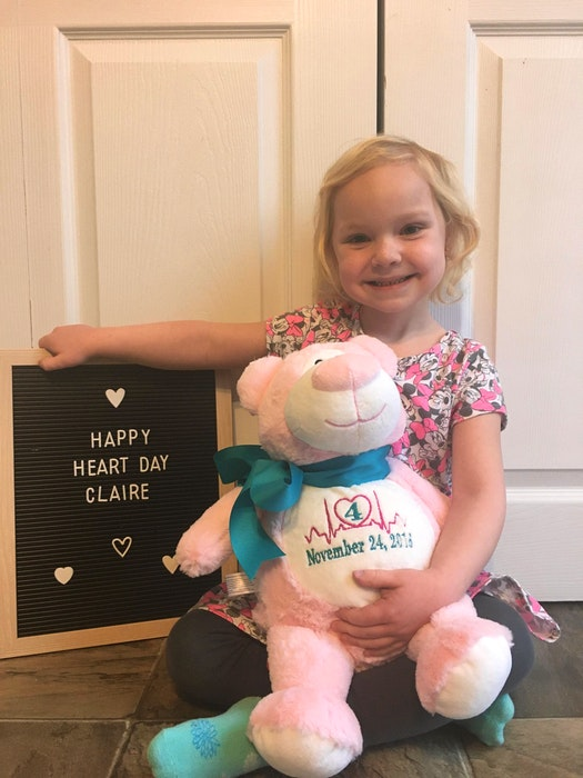 Claire Andrews celebrated the fourth anniversary of her heart transplant on Nov. 24, 2020. - Contributed