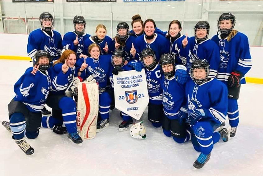 The Bridgetown Hawks recently topped the West Kings Wolverines 3-2 in the final matchup of a best-of-three series to become the Western Region Division 2 Girls Champions. - Contributed