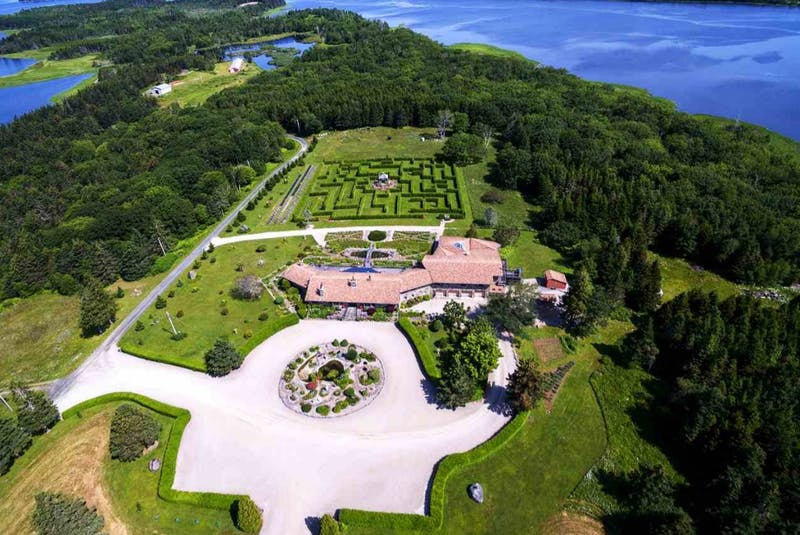 The most expensive house now for sale in Atlantic Canada is the 280-acre Shangri-La Ranch estate on Robert's Island near Yarmouth. The $7,890,000 price tag includes an 8,454 sq.-ft. house with six bedrooms, nine baths, water views on three sides, multiple decks, an indoor pool and expansive gardens that feature a labyrinth maze and fishponds. CONTRIBUTED - David Jala