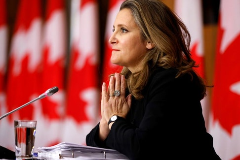 Canada's Deputy Prime Minister and Minister of Finance Chrystia Freeland.