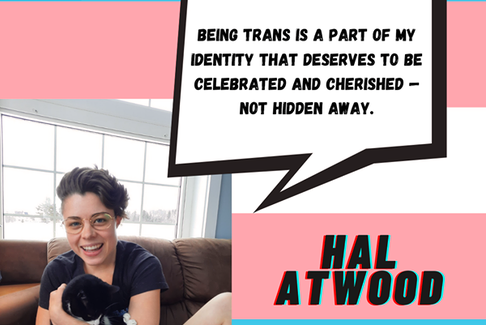 Hal Atwood, a member of P.E.I. Transgeder, shares their views on the network's Facebook page in recognition of International Transgender Day od Visibility