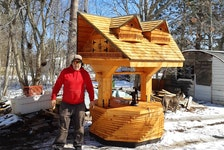 Paul Pynch of Aylesford was on an extended layoff because of the COVID-19 pandemic, so he used the extra time to build a nine-foot wishing well in his backyard shop. It's almost twice the height of his previous biggest work.