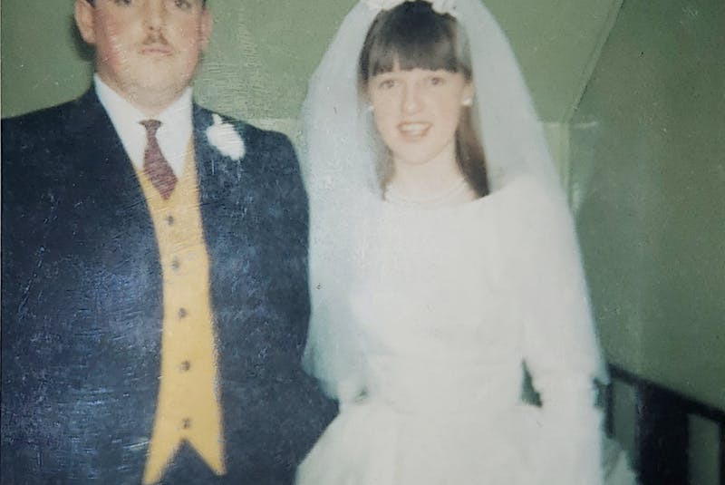 Ed and Carmel Healy on their wedding day. — Contributed
