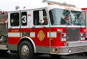 Brooklyn firefighters, along with mutual aid and auto aid partners, battled a barn fire along Highway 215 April 10. The building could not be saved.