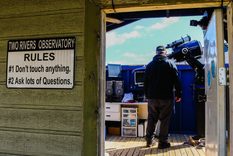 Astronomer Stan Williams runs the Two Rivers Observatory at Two Rivers Wildlife Park in Huntington, N.S. JESSICA SMITH/CAPE BRETON POST