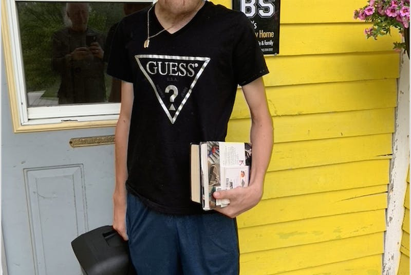Nick Dismatsek, 20, who was diagnosed with neurofibromatosis in infancy, in Inverness. Although Nick and his three brothers grew up in Hamilton, Ont., the family recently moved back to their roots in Cape Breton. CONTRIBUTED - Sharon Montgomery