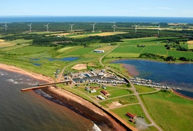 This photo shows the Eastern Kings Wind Farm.