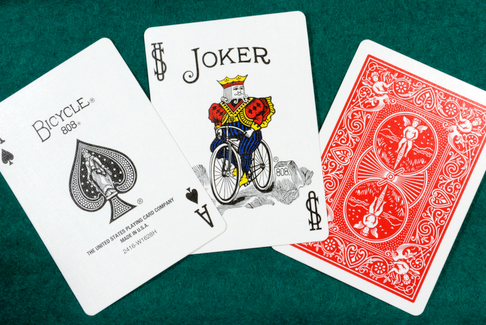 A deck of Bicycle playing cards. - Marty Rus