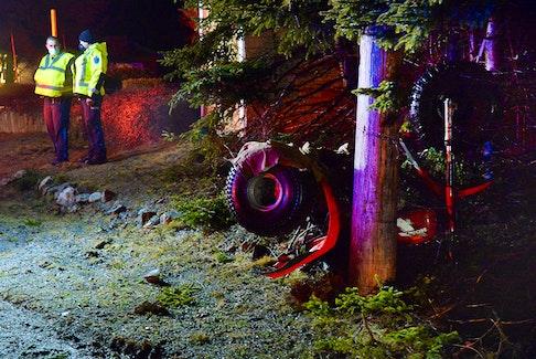 One man was sent to hospital following an ATV crash in Flatrock Sunday night. Keith Gosse/The Telegram