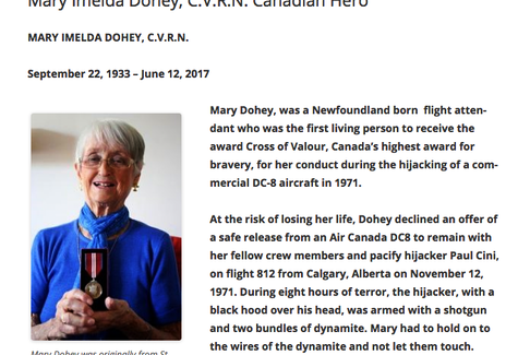 An excerpt about Mary Dohey from the Archival Moments blog. — Screenshot