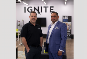 Doug Jones, the CEO and founder of IGNITE, and Yousuf Khatib, the co-founder and CEO of Global Skills Hub and an advisor to Global Villages, are both looking forward to the exciting possibilities from an immigration tech project that is starting out in Yarmouth. CONTRIBUTED PHOTO