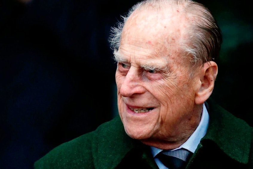 Taken on Dec. 25, 2017 Britain's Prince Philip, Duke of Edinburgh leaves after attending Royal Family's traditional Christmas Day church service at St Mary Magdalene Church in Norfolk, England.