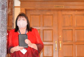 Mount Pearl North MHA Lucy Stoyles was among the MHAs sworn in Monday at the House of Assembly.