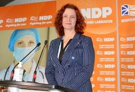 NDP Leader Alison Coffin.