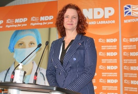 NDP Leader Alison Coffin.