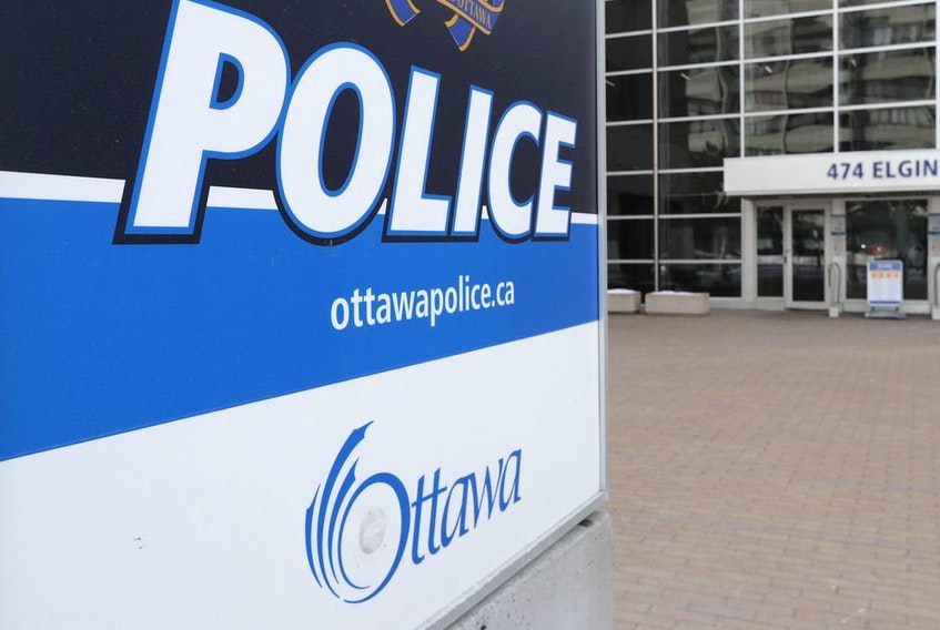 A file photo of Ottawa Police Services headquarters on Elgin Street.