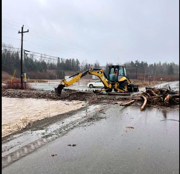 The town of King's Point in central Newfoundland declared a state of emergency after a portion of the highway connecting it to the TCH was washed away in Monday's heavy rains. (Photo courtesy Vanessa Tucker.) - Contributed