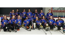 The Greater Stratford Gulls recently won the third division championship of the Queens County Rec Hockey League. Team members, front row, from left, are Tyler Power, Ben Nicholson, Brett MacPherson, Parker Day, Nick Currie, Bret Cheverie, Alex Hall and Reece LeClair. Second row, Nathan Molyneaux, Connor Gray, Luke Reeves-Rollins, Ridge Crane, Dylan MacDonald, Colin Koughan and Ben Reynolds. Missing from photo is Daniel Martel. - Contributed