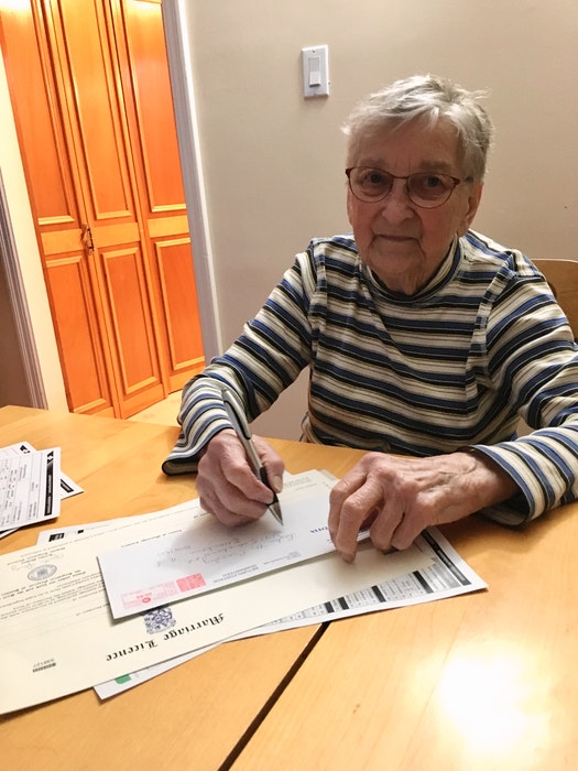 Lydia Crossley sold her final marriage licence certificate in March 2021 — more than 61 years after her first one. - Contributed