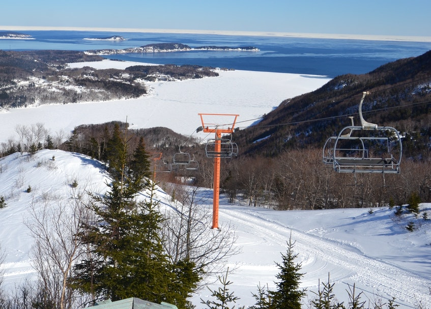 Ski Cape Smokey offers one of the finest vistas on Cape Breton Island. The above photograph shows the cold waters of the Cabot Strait beyond the Ingonish Beach inlet. CONTRIBUTED
