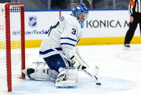Maple Leafs goaltender Frederik Andersen, dealing with a lower-body injury, has not been on the ice since March 19, when he was in goal for a loss against the Calgary Flames.