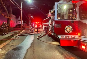 Members of the Glace Bay volunteer fire department repsonded to a duplex fire early morning April 12.