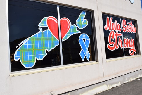 "Symbols of ""Nova Scotia Strong"" have become widely visible across the province, including along Robie Street in Truro. Though it has taken on other meanings, the message was born out of the tragic mass killings of 22 people and an unborn baby one year ago."