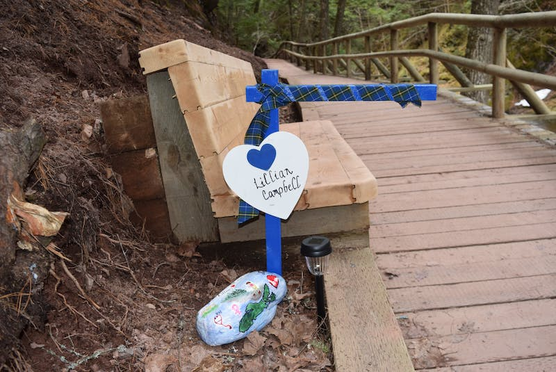 Lillian Campbell had retired from Whitehorse, Yukon with her husband to Wentworth, N.S. in 2014. Her memorial is next to one of the benches along the walk at Truro's Victoria Park. - Chelsey Gould