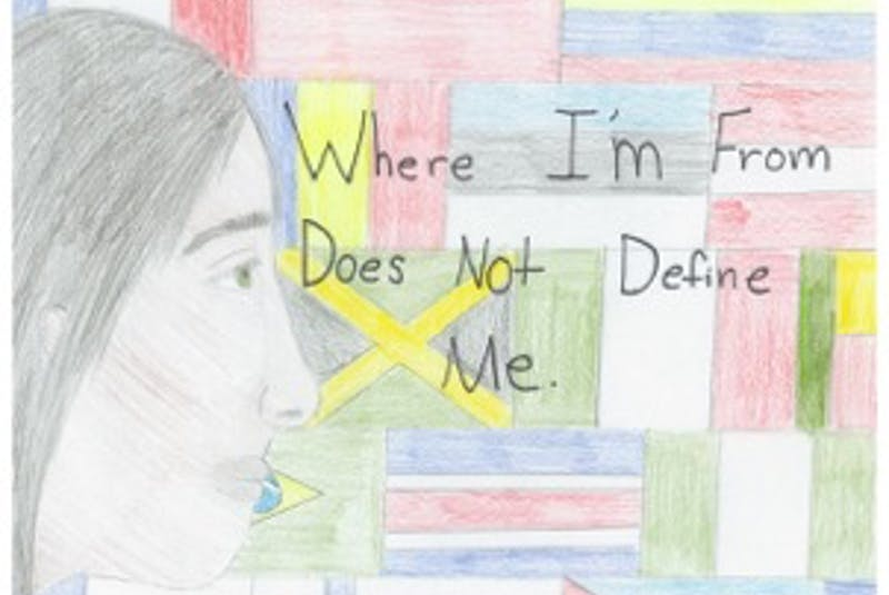 Annie Walsh's poster won first place in the Grades 7-9 category in the 2021 Sharing Our Cultures anti-racism poster contest. — CONTRIBUTED - Saltwire network